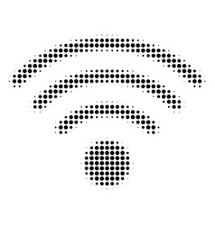 wi-fi source halftone icon vector image