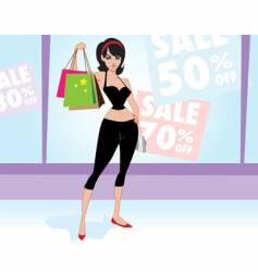 woman shopper vector image
