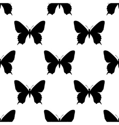 black butterfly seamless vector image
