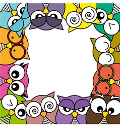 Owls card vector image vector image