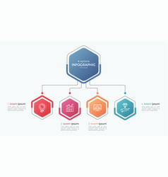 Presentation business infographic template with 4 vector