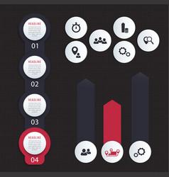 vertical timeline 1 2 3 4 steps infographics vector image vector image