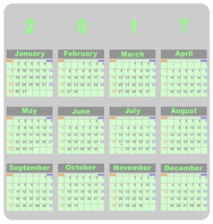 Design demo 2017 calendar template vector