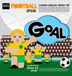 Football conceptual EPS10 vector image vector image