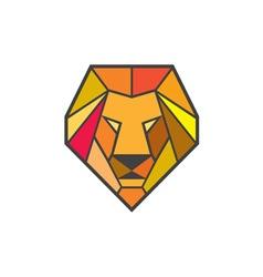 Lion head low polygon vector