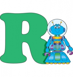 R is for robot vector image