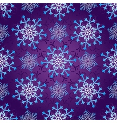 Seamless dark violet christmas pattern vector image vector image