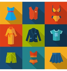 Set with clothes icons vector image