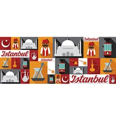 travel and tourism icons Istanbul vector image vector image