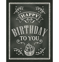 chalkboard Birthday card design background vector image vector image