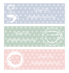 coffee three color pastel style vector image