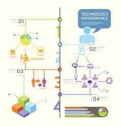 infographics set and Information technology Graph vector image
