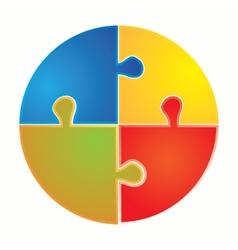 Puzzle piece infographics vector image