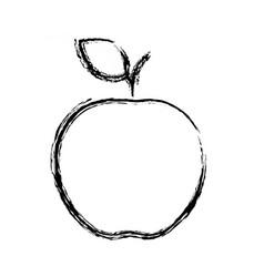 figure delicious fresh apple fruit nutrition vector image vector image