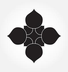 Lotus logo vector image vector image