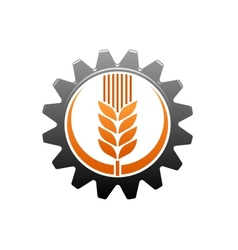 Agriculture and industry icon vector image