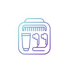 Airline amenities gradient linear icon vector