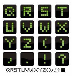 Alphabet icons q z vector image