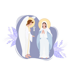 Annunciation to blessed virgin mary vector