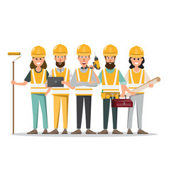 architect foreman engineering construction worker vector image