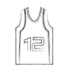 Basketball shirt uniform icon vector