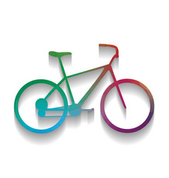 bicycle bike sign colorful icon with vector image