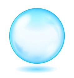 Big blue opaque glass sphere vector