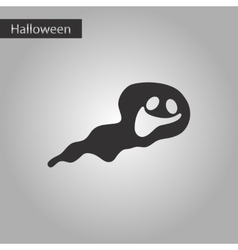 Black and white style icon Halloween ghost vector