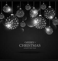 black background with hanging christmas festival vector image vector image