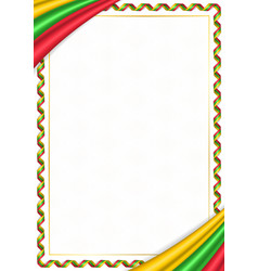 Border made with myanmar national colors vector