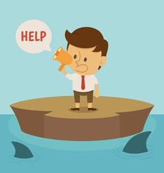 Businessman crisis vector image