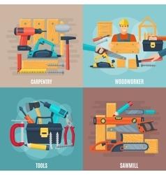 Carpentry Design Concept Set vector image