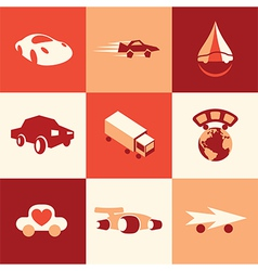 Cars logo icons vector