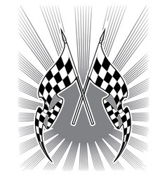 Checkered race flags vector