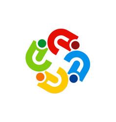 circle abstract colorful diversity logo vector image