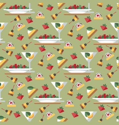 cocktail party aperitif seamless pattern vector image