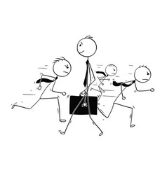 Conceptual cartoon of businessman individuality vector