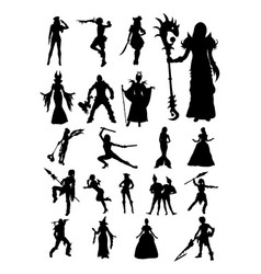 cosplay silhouette vector image