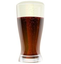 Dark beer in glass vector