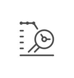 data research line icon vector image