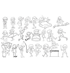 Doodle design of people vector image