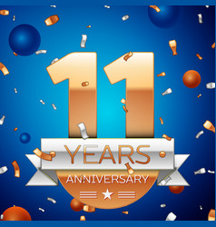 Eleven years anniversary celebration design vector