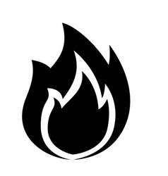 fire icon isolated on white vector image