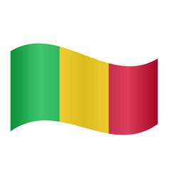 flag of mali waving on white background vector image