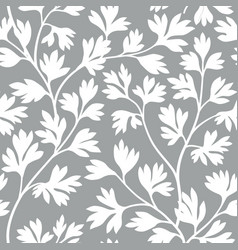 floral leaves seamless pattern graden lush leaf vector image