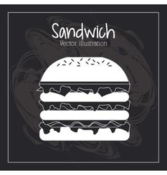 Food concept burger design vector image