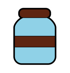 glass jar icon image vector image