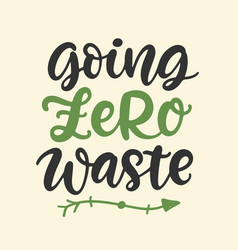 Going zero waste save earth less waste concept vector
