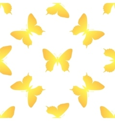 Golden butterfly seamless vector