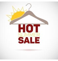 Hanger hot summer sale poster vector image